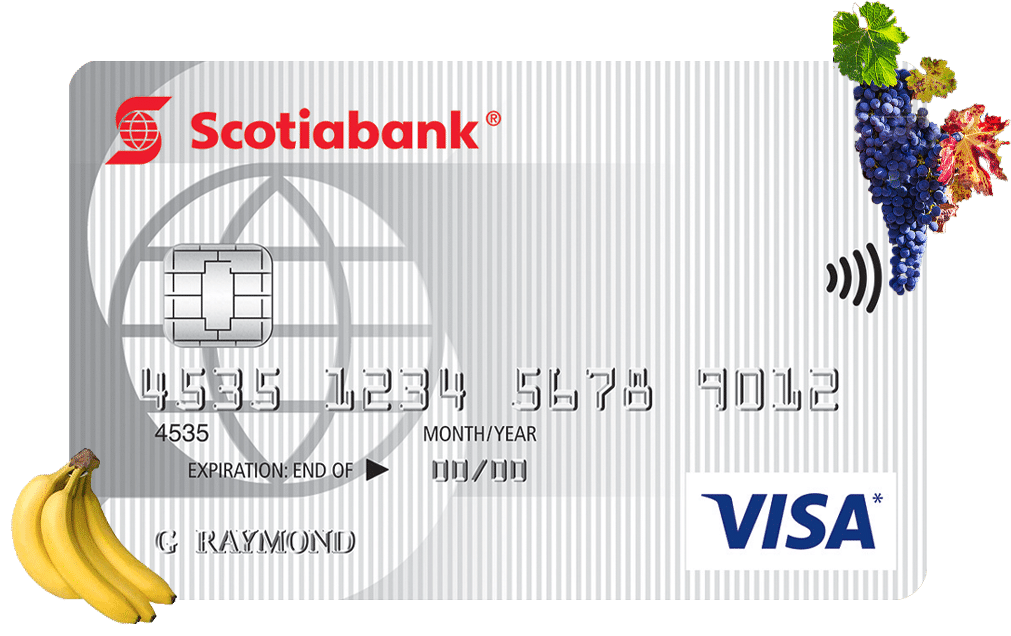 Scotiabank Value Visa With Fruit Hanging