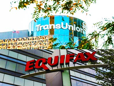 Equifax and Trans-Union Split Image