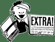 Extra Extra - Cartoon paper-boy