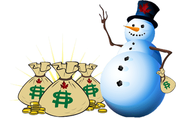 Frosty The Snowman with Money