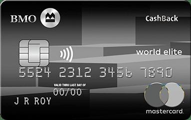 BMO CashBack World Elite Mastercard Credit Card