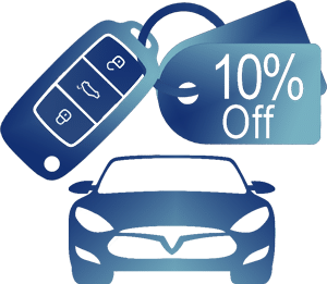 Pay with a credit card and receive a generous discount on car rentals
